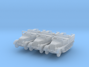 Sdkfz 11 (open) (window up) (x3) 1/285 in Smooth Fine Detail Plastic