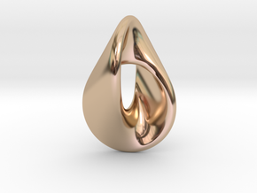 Oloid Pendant in 14k Rose Gold Plated Brass