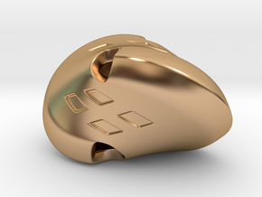 Oloid Dice in Polished Bronze