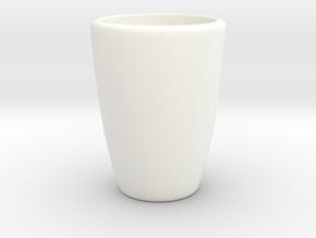 Bench Planter vase Part in White Processed Versatile Plastic