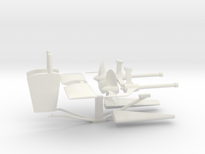 1/32 DKM U-Boot VII/C Shaft Housing and Props KIT in White Natural Versatile Plastic