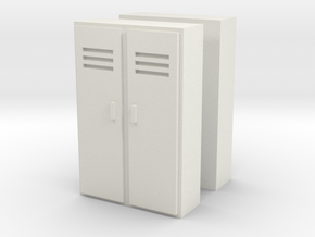 Double Locker (x2) 1/76 in White Natural Versatile Plastic