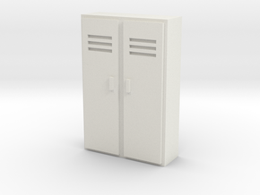 Double Locker 1/56 in White Natural Versatile Plastic