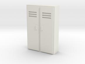 Double Locker 1/48 in White Natural Versatile Plastic