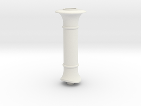 Jenny lind Chimney 7mm scale in White Natural Versatile Plastic