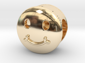Smiley Face Bead in 14K Yellow Gold