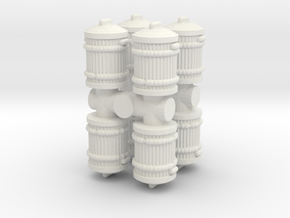 Garbage Can (x8) 1/87 in White Natural Versatile Plastic