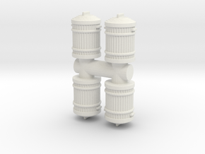 Garbage Can (x4) 1/56 in White Natural Versatile Plastic
