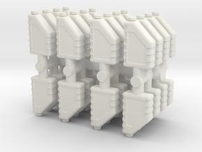 Motor Oil Bottle (x32) 1/43 in White Natural Versatile Plastic