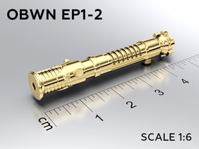 OBWN EP1-2 keychain in Natural Brass: Medium
