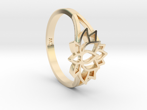 Lotus Ring in 14k Gold Plated Brass: 6 / 51.5
