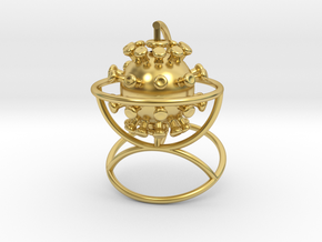Pandemic Globe in Polished Brass (Interlocking Parts)