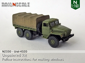 Ural-4320 (N 1:160) in Smooth Fine Detail Plastic