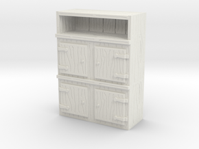 Wooden Cabinet 1/56 in White Natural Versatile Plastic
