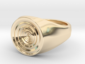Whirlpool Ring in 14k Gold Plated Brass: 5 / 49