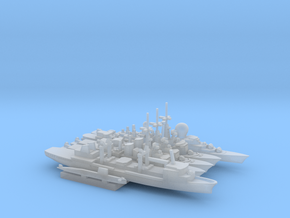French Carrier Escort Group (1990s), 1/3000 in Smooth Fine Detail Plastic