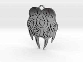 Pendant Veles Slavic Amulet Simbol in Polished Silver