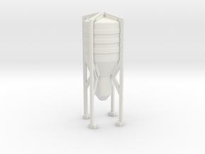 Grain Silo 1/220 in White Natural Versatile Plastic