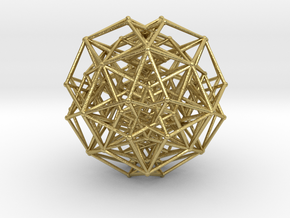 5d tesseract in Natural Brass