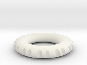double edge rodin coil frame  50 x 50 x 8.5 mm  in White Natural Versatile Plastic