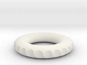 v2 double edge rodin coil frame  40x40x7mm in White Natural Versatile Plastic