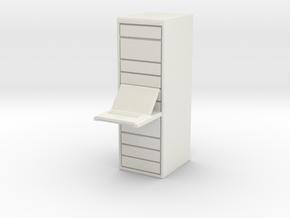 Computer Server 1/56 in White Natural Versatile Plastic