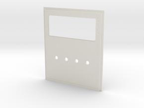 King Hauler Daycab Panel, Large Window, 4 Lights in White Natural Versatile Plastic