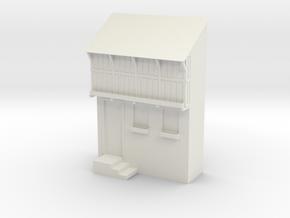 Miniature 1:48 Medieval Tavern in White Natural Versatile Plastic