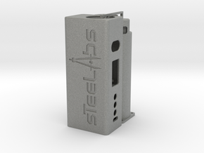 SQUARED DNA75C BATTERY BOX MOD (LOGO) in Gray PA12