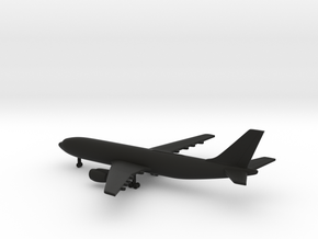 Airbus A300 in Black Natural Versatile Plastic: 1:700