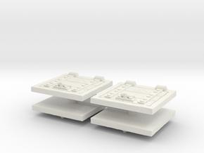 Wooden Trapdoor (x4) 1/72 in White Natural Versatile Plastic