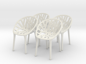 Chair 10. 1:24 Scale in White Natural Versatile Plastic