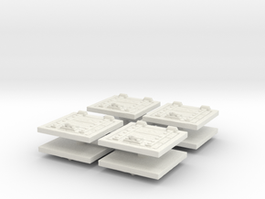 Wooden Trapdoor (x8) 1/120 in White Natural Versatile Plastic