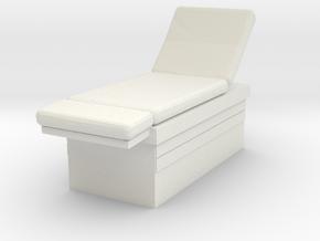 Medical Examination Table 1/64 in White Natural Versatile Plastic