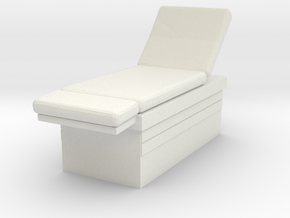 Medical Examination Table 1/35 in White Natural Versatile Plastic