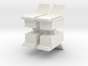 Medical Examination Table (x4) 1/120 in White Natural Versatile Plastic