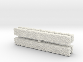 Stone Wall (x4) 1/200 in White Natural Versatile Plastic