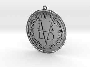 Coin Game of Thrones Pendant Two sides in Polished Silver