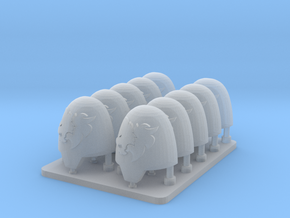 Space Vikings V10 Primus Smooth Shoulder Pads in Smooth Fine Detail Plastic