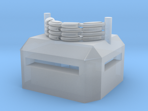 Square Bunker with Machine Gun Nest in Smooth Fine Detail Plastic