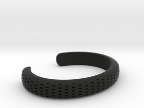 dimple 1 cuff NARROW in Black Premium Versatile Plastic