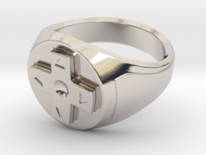 Controller Ring in Rhodium Plated Brass: 8 / 56.75
