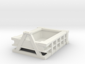5Yd Construction Dumpster 1/24 in White Natural Versatile Plastic
