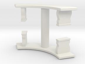 Curved Garden Bench (x2) 1/43 in White Natural Versatile Plastic