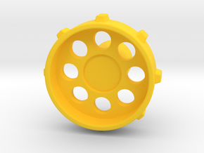 """GT Type Thumb Knob for Rotary Encoder w/ 1/4"""" 6.35 in Yellow Processed Versatile Plastic"""