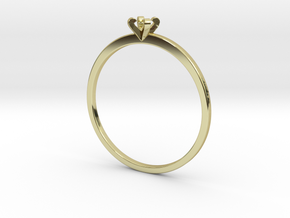 Plain Size 7 Ring - 3mm Gem - 4 prong - v5 in 18k Gold