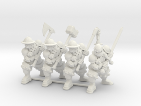 Character Series: Greatweapon Soldier Bundle in White Natural Versatile Plastic