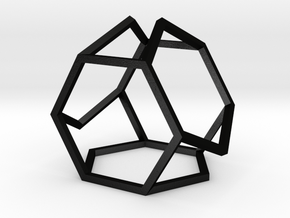 "HexDex Desk Toy 1.5"" in Matte Black Steel"