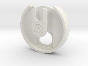 Dial Cover (Kushan) in White Natural Versatile Plastic