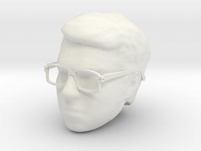 Gold BeastMorpher Ranger Head with Glasses in White Natural Versatile Plastic